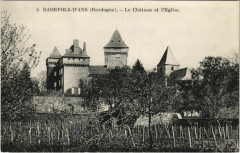 Badefols-d'Ans - Le Chateau et l'Eglise - Badefols-d'Ans