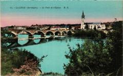 Lalinde - Le Pont et l'Eglise - Lalinde