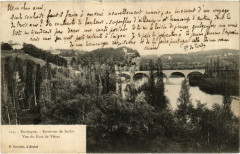 Dordogne - Environs de Sarlat - Vue du Pont de Vitrac - Vitrac