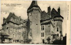 Dordogne - Chateau de Lanquais-Intérieur de la Cour - Lanquais