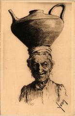 Le Pays Basque - Ainhoa (Basses-Pyrenées) Type de vieille femme - Ainhoa