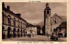 Vallée d'Aspe Bedous-La Mairie et l'Eglise - Bedous