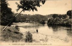 Cambo-les-Bains Vue sur la Nive et le Pont suspendu - Cambo-les-Bains