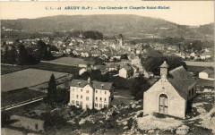 Arudy - Vue générale et Chapelle Saint-Michel - Arudy