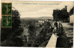 Sauveterre-de-Bearn - Vue prise de la Promenade de l'Eglise - Sauveterre-de-Béarn