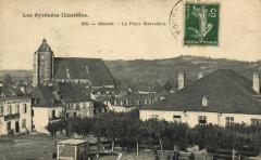 Les Pyrenées Illustrées Monein - La Place Marcaideu - Monein