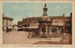 Coutras - Puits Henri Iv et Rue Victor Hugo - Coutras