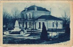 Camarsac - La Mairie et le Monument des Morts pour la Patrie - Camarsac