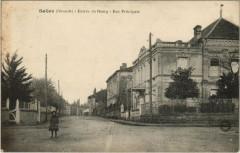 Salles - Entrée de Bourg - Rue Principale - Salles