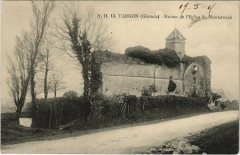 Targon - Ruines de L'Eglise de Montarouch - Targon
