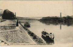 La Reole-Le Grand pont suspendu sur la Garonne - La Réole