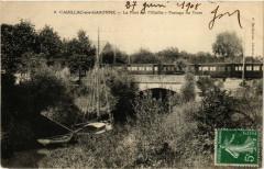 Cadillac-sur-Garonne Le Pont sur l'Oeuille-Passage du Tram - Cadillac