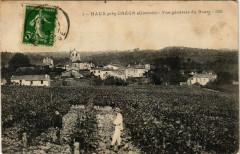 Haux pres Créon Vue générale du Bourg - Haux