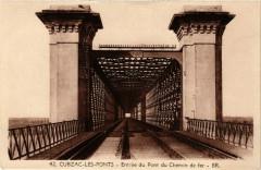Cubzac les Ponts Entrée du Pont du Chemin de fer - Cubzac-les-Ponts