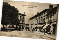 Lussac-de-Libourne (Gironde) - Place de la République - Lussac