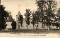 La Bréde-Vue de coté du Chateau Montesquieu - La Brède