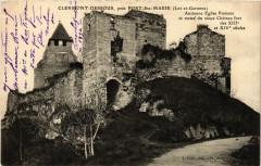 Clermont-Dessous - Ancienne Eglise Romane - pres Port-Sainte-Marie - Clermont-Dessous