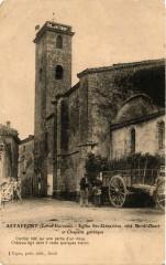 Astaffort - Eglise Sainte-Genevieve - coté Nord-Ouest et Chapelle - Astaffort