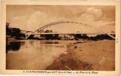 Castelmoron-sur-Lot Le Pont et la Plage - Castelmoron-sur-Lot