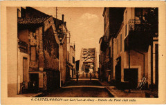 Castelmoron-sur-Lot Entrée du Pont sote ville - Castelmoron-sur-Lot