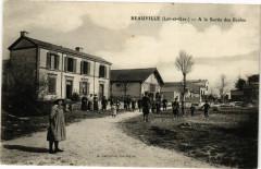 Beauville-A la Sortie des Ecoles - Beauville