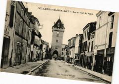Villeneuve-sur-Lot-Rue et Tour de Pujols - Pujols