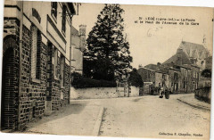 Lege-La Poste et le Haut de L'Avenue de la Gare - Legé