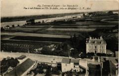 Les Ponts-de-Ce - Vue a vol d'oiseau sur l'Ile Saint-Aubin - Les Ponts-de-Cé