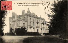 Durtal Chateau du Grip detruit par un incendie - Durtal