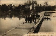 Denee - Construction d'un pont sur pilotis par le 6*Genie - Denée
