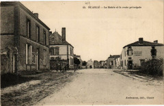 Nuaille - La Mairie et la Route Principale - Nuaillé