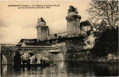 Apremont - Le Chateau et le Pont démoli par les Inondations 1909 - Apremont