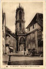 Selestat Rue du Babil et Eglise Saint-Georges - Sélestat