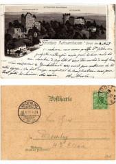 Litho Forsthaus Rathsamhausen b. Ottrott 1898. Alsace - Ottrott