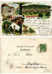 Litho Gruss aus Oberbronn 1898. Alsace - Oberbronn