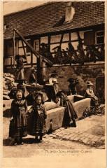 Schillersdorf - Scene - Folklore - Types - Alsace - Elsass - Schillersdorf