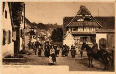 Ettendorf - Rue Scene - Folklore - Types - Alsace - Elsass - Ettendorf