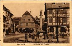 Molsheim - Rathausplatz mit Brunnen - Molsheim