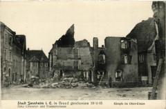 Sennheim - Cernay - Stadt Sennheim in Brand geschossen 1915-15 - Cernay