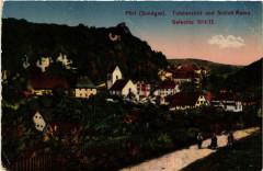 Ferrette - Pfirt - Sundgau - Totalansicht und Schloss-Ruine - Ferrette