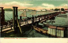 Huningen - Huningue - Schiffsbrucke b. Huningen - Huningue
