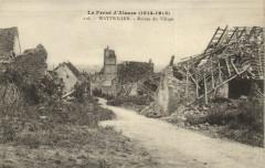 Le Front d'Alsace (1914-1918) Wattwiller - Ruines du Village - Wattwiller