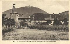 Saint-Hippolyte - la tour des Cigognes et le Haut-Koenigsbourg - Saint-Hippolyte