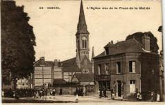 Oissel - L'Eglise vue de la Place de la Mairie - Oissel