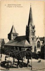 Montivilliers - L'Eglise et la Fontaine - Montivilliers