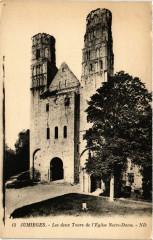 Jumieges-Les deux Tours de l'Eglise Notre-Dame - Jumièges