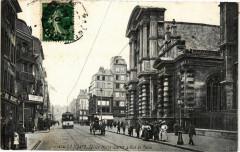 Ed. Aqua 1825 Le Havre Eglise N.D. et rue de Paris 76 Le Havre