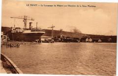 Le Trait-Le Lancement du Megara aux Chantiers de la Seine Maritime - Le Trait