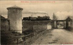 Mérey - Vue sur la Tour et le Pont de Chemin de Fer - Merey