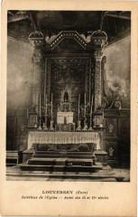 Louversey - Intérieur de l'Eglise - Autel des 14 et 15 s.. - Louversey